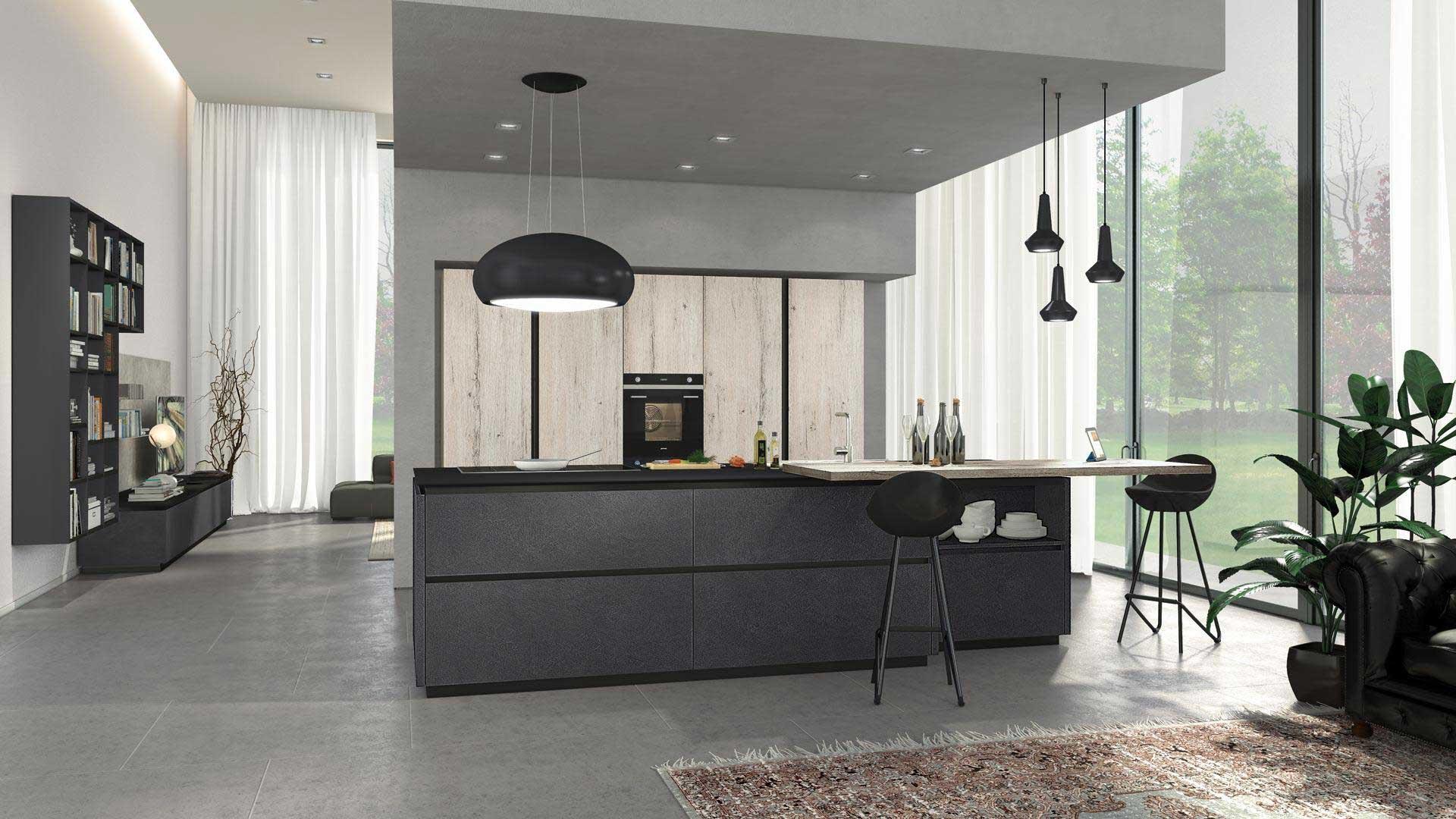 Lube cucina oltre design materico - Lube cucine moderne ...