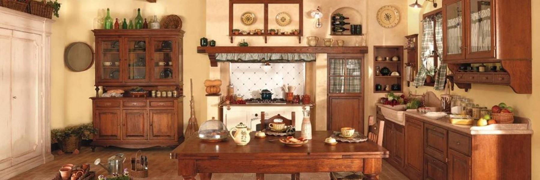 Cucine in muratura antichi sapori - Mobili rustici per cucina ...
