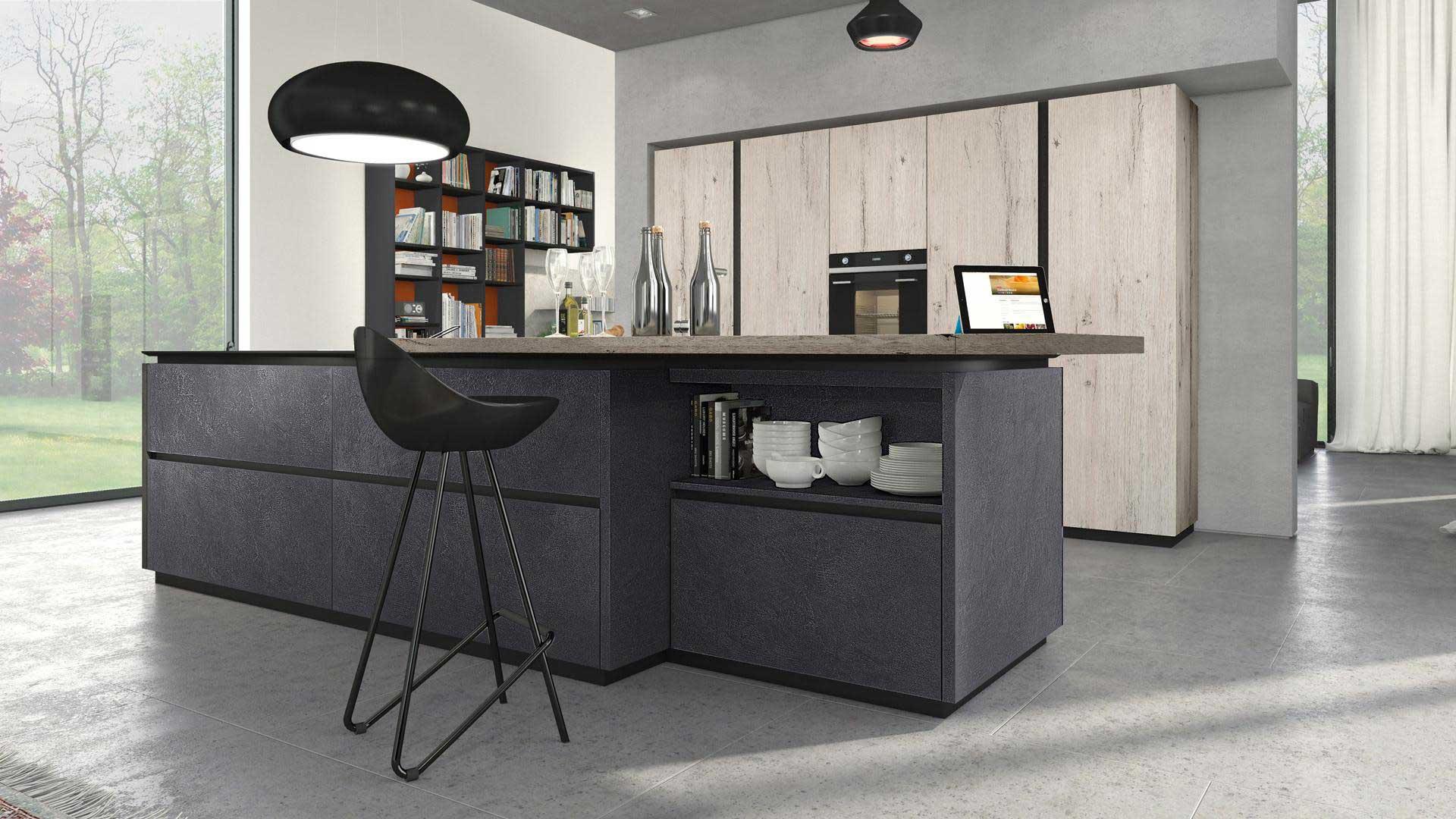 Lube cucina oltre design materico - Cucina senza elettrodomestici ...